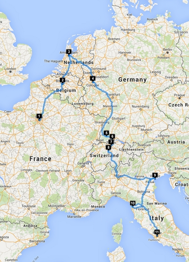 From Paris to Rome - Itinerary Paket Eropa